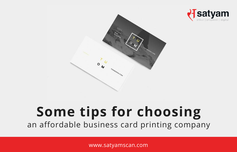 Some tips for choosing an affordable Business Card Printing Company